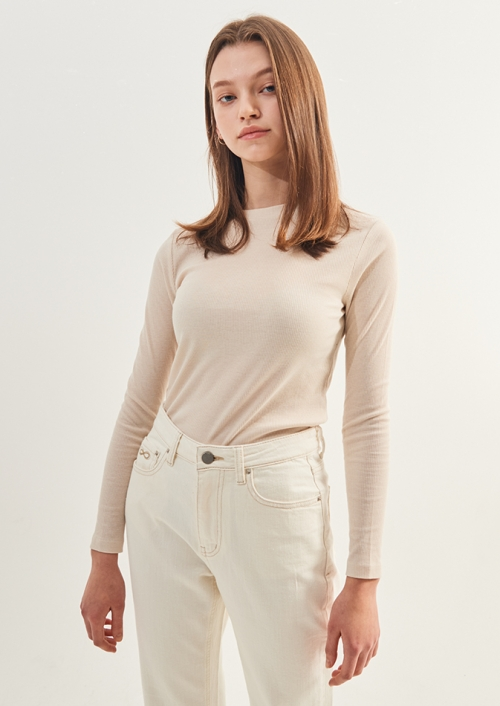WOMENS BASIC SLIM T-SHIRTS_BE (PWTZ1RLX67WOBE)