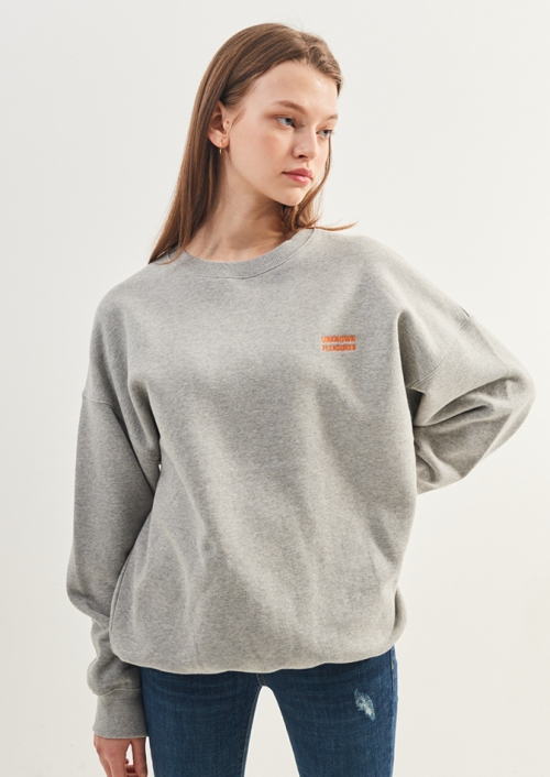 UNI DROP SHOULDER SWEATSHIRTS_M.GY (PWTZ1WSL99UMGY_W)