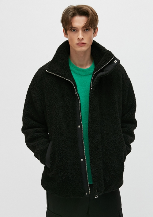 UNI FLEECE JACKET (PWON4JPL11U0C1)_BK